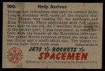 1951 Bowman Jets Rockets and Spacemen #100   Help Arrives Back Thumbnail