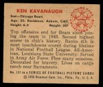 1950 Bowman #137  Ken Kavanaugh  Back Thumbnail