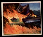 1950 Bowman Wild Man #18   Rescue at Sea Front Thumbnail