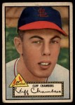1952 Topps #68 BLK Cliff Chambers  Front Thumbnail