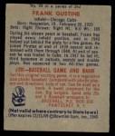 1949 Bowman #99  Frank Gustine  Back Thumbnail
