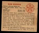 1950 Bowman #5  Bob Kuzava  Back Thumbnail