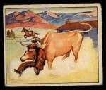 1949 Bowman Wild West #4 E  Bulldozing Longhorn Front Thumbnail