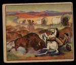 1949 Bowman Wild West #15 A  Buffalo Stampede Front Thumbnail