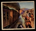 1949 Bowman Wild West #29 A  Indians Attack Iron Horse Front Thumbnail