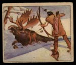 1949 Bowman Wild West #4 B  Bow-and-Arrow Hunting Front Thumbnail