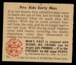 1950 Bowman Wild Man #11   Fire Aids Early Man Back Thumbnail