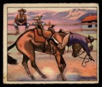 1949 Bowman Wild West #13 E  An Easterner Learns Front Thumbnail