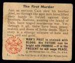 1950 Bowman Wild Man #1   The First Murder Back Thumbnail