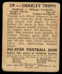 1948 Leaf #29  Charley Trippi  Back Thumbnail