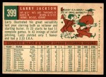 1959 Topps #399  Larry Jackson  Back Thumbnail