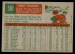 1959 Topps #501  Bob Tiefenauer  Back Thumbnail
