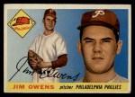 1955 Topps #202  Jim Owens  Front Thumbnail
