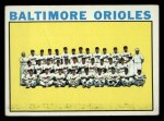 1964 Topps #473   Orioles Team Front Thumbnail