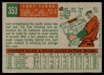 1959 Topps #353  Curt Flood  Back Thumbnail