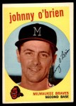 1959 Topps #499  Johnny O'Brien  Front Thumbnail