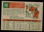 1959 Topps #142  Dick Stigman  Back Thumbnail
