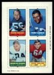 1969 Topps 4-in-1 Football Stamps  Wayne Walker / Tony Lorick / Merlin Olsen / Dave Wilcox  Front Thumbnail