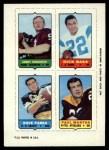1969 Topps 4-in-1 Football Stamps  Sonny Jurgensen / Dick Bass / Dave Parks / Paul Martha  Front Thumbnail