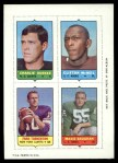 1969 Topps 4-in-1 Football Stamps  Charlie Durkee / Clifton McNeil / Fran Tarkenton / Maxie Baughan  Front Thumbnail