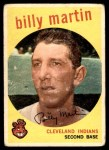 1959 Topps #295  Billy Martin  Front Thumbnail