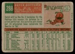1959 Topps #288  Dutch Dotterer  Back Thumbnail