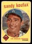 1959 Topps #163  Sandy Koufax  Front Thumbnail
