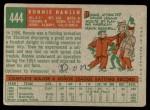 1959 Topps #444  Ronnie Hansen  Back Thumbnail