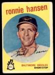 1959 Topps #444  Ronnie Hansen  Front Thumbnail