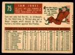 1959 Topps #75  Sam Jones  Back Thumbnail