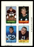 1969 Topps 4-in-1 Football Stamps  Gene Hickerson / Donny Anderson / Mike Lucci / Dick Butkus  Front Thumbnail
