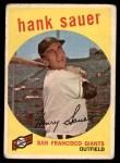 1959 Topps #404  Hank Sauer  Front Thumbnail