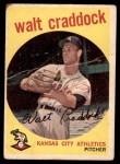 1959 Topps #281  Walt Craddock  Front Thumbnail