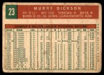 1959 Topps #23  Murry Dickson  Back Thumbnail
