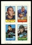 1969 Topps 4-in-1 Football Stamps  Gene Howard / Joe Morrison / Ben Davis / Billy Martin  Front Thumbnail
