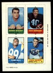 1969 Topps 4-in-1 Football Stamps  Sonny Bishop / Pete Banaszak / Tom Day / Paul Guidry  Front Thumbnail