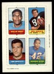 1969 Topps 4-in-1 Football Stamps  Willie West / Ken Herock / Gino Cappelletti / George Byrd  Front Thumbnail