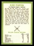 1963 Fleer #19  Albie Pearson  Back Thumbnail