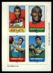 1969 Topps 4-in-1 Football Stamps  Hewritt Dixon / Goldie Sellers / Howard Twilley / Joe Namath  Front Thumbnail