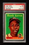 1958 Topps #30 YN Hank Aaron  Front Thumbnail