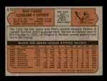1972 Topps #470  Ray Fosse  Back Thumbnail