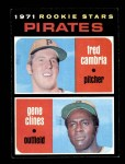 1971 Topps #27   -  Gene Clines / Fred Cambria Pirates Rookies   Front Thumbnail