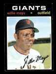1971 Topps #600  Willie Mays  Front Thumbnail