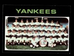 1971 Topps #543   Yankees Team Front Thumbnail