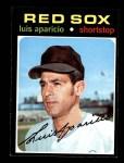 1971 Topps #740  Luis Aparicio  Front Thumbnail