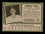 1971 Topps #364  Tommy Dean  Back Thumbnail