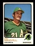 1973 Topps #483  Dal Maxvill  Front Thumbnail