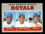 1970 Topps #552   -  Don O'Riley / Dennis Paepke / Fred Rico Royals Rookies Front Thumbnail