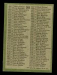 1971 Topps #369 ORG  Checklist 4 Back Thumbnail