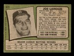 1971 Topps #622  Joe Lahoud  Back Thumbnail
